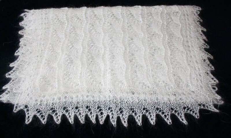 Пуховой шарф